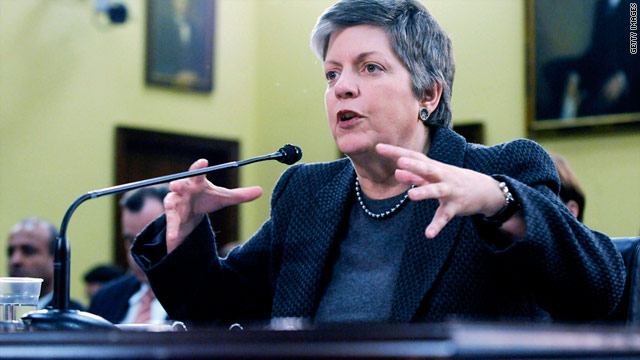 "Homeland Security Secretary Janet Napolitano tells a Senate subcommittee that budget cuts will have a ""security impact."""