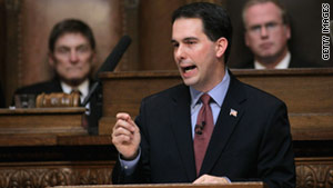 """Every day we fail to act on this just adds more and more to the cost,"" Gov. Scott Walker said."