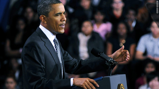 President Obama told students and faculty at TechBoston Academy that cutbacks would ultimately prove self-defeating.