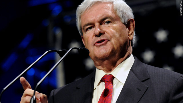 Former House Speaker Newt Gingrich wants a federal ban on Sharia and opposes a proposed Islamic center near ground zero.