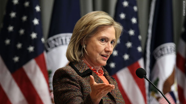 Secretary of State Hillary Clinton says U.N. backing is essential for a no-fly zone in Libya.
