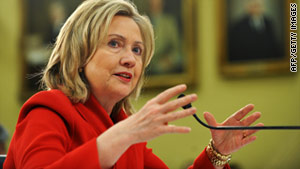 Secretary of State Hillary Clinton's statement appears to stop short of saying the U.S. is officially cutting ties to Libya.