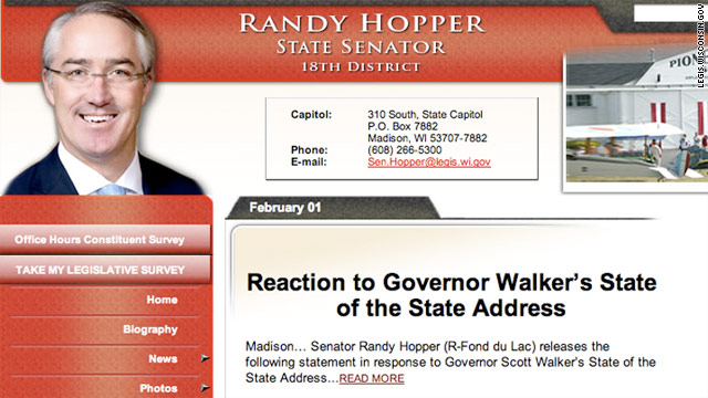 Republican Randy Hopper represents Fond du Lac in the Wisconsin Senate.