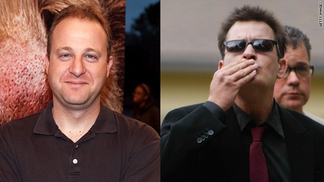 Rep. Jared Polis, left, says Charlie Sheen helped him gain Twitter followers.