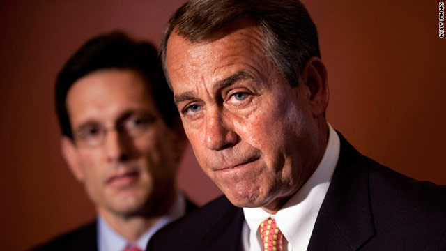 House Speaker John Boehner talks Tuesday about a possible federal government shutdown.