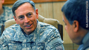 Gen. David Petraeus has told reporters that it would be inappropriate to comment on possible job offers.