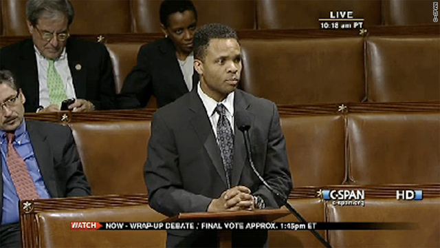 Rep. Jesse Jackson Jr., D-Illinois, takes to the House floor to lament the consequences of the Ipad's popularity.