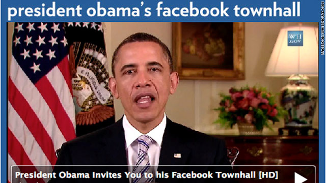 President Obama answers questions selected by Facebook reps. Facebook CEO Mark Zuckerberg will moderate the event.