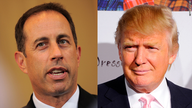 Real estate mogul Donald Trump is lashing out at comedian Jerry Seinfeld over a no-show to a benefit.