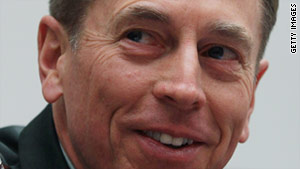 Gen. David Petraeus is the four-star general who commands the U.S.-led international military force in Afghanistan.