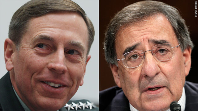 President Obama nominated Gen. David Petraeus, left, to lead the CIA and Leon Panetta to head the Pentagon.