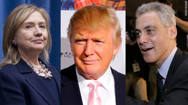 Donald Trump gave money to Hillary Clinton when she was a senator and to Rahm Emanuel's Chicago mayoral campaign.