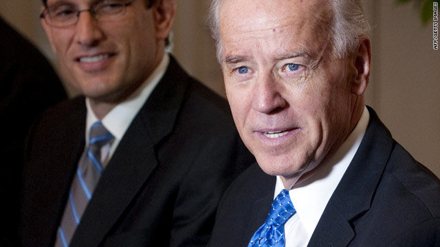 Vice President Joe Biden is urging Republican lawmakers to work with Democrats in crafting a budget deal.