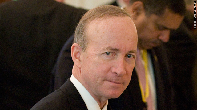 Indiana Governor Mitch Daniels, pictured, said family interests were most important in his consideration for a presidential bid.