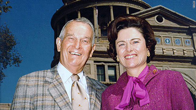 William Clements with his wife, Rita, in 1975. He was elected governor of Texas in 1978, marking a comeback for the GOP there.
