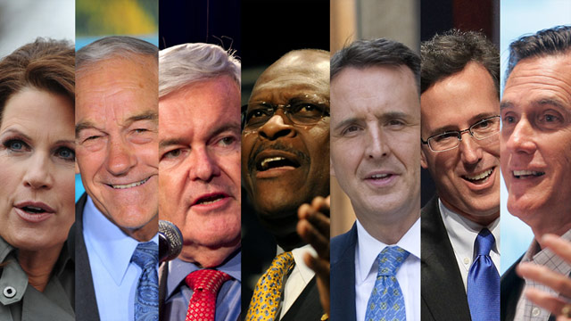 The seven GOP contenders in CNN&#039;s Monday debate