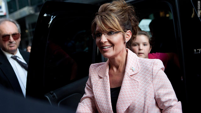 Sarah Palin, shown here arriving at Trump Tower on Tuesday in New York, has been media-friendly lately.