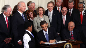 The health care reform legislation was signed into law by President Obama in March 2010.