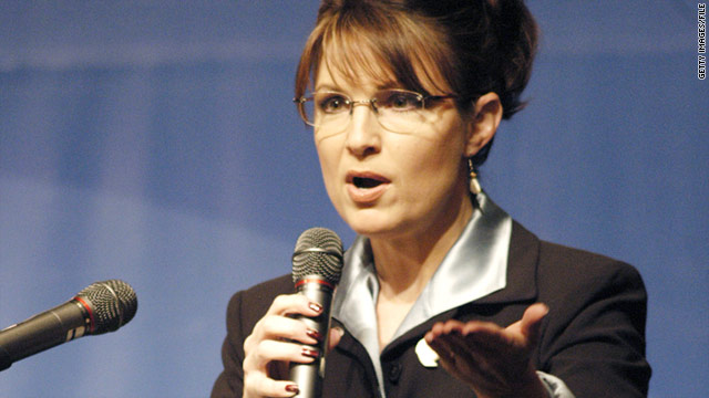 Alaska Gov. Sarah Palin speaks during the International Whaling Commission meeting in Anchorage, Alaska, in May 2007.