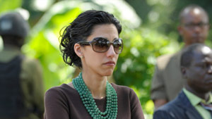 Huma Abedin, an aide to Secretary of State Hillary Clinton,  attends an event in Mlandizi, Tanzania, last week.