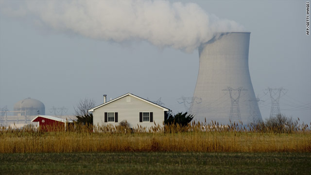 The Hope Creek Nuclear plant is seen behind a farmhouse  in Lower Alloways Township, New Jersey.