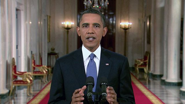 President Barack Obama announced his plans Wednesday night to draw down American troops in Afghanistan.