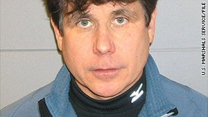 Former Illinois Gov. Rod Blagojevich, shown in a 2008 booking photo, is accused of public corruption.