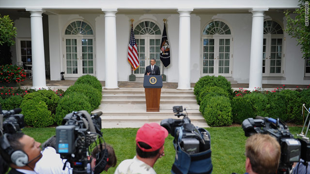 President Obama speaks on monthly jobs report figures July 8 in the Rose Garden of the White House.