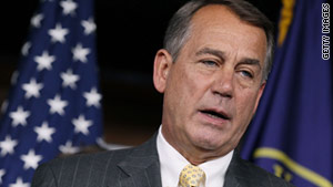 House Speaker John Boehner has said Republicans cannot support a major deal as long as President Obama and Democrats insist on increasing taxes
