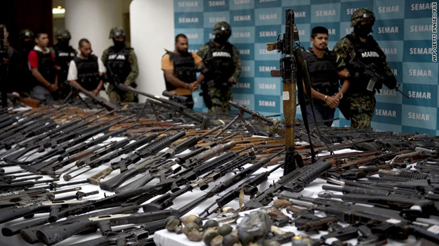 The ATF operation was intended to build cases against drug cartels, like the Zetas seen here, by tracing weapons.