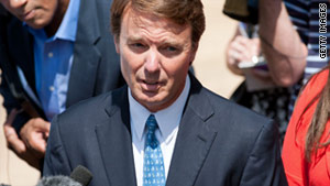 John Edwards, shown outside court in Winston-Salem, North Carolina, in June, denies he broke the law.