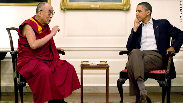 President Barack Obama meets with the Dalai Lama at the White House on Saturday.