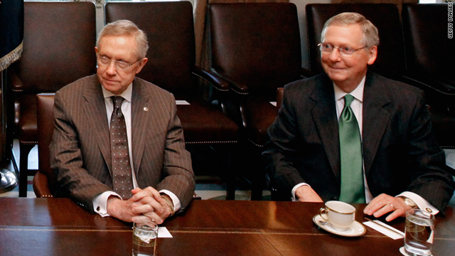 Senate Majority Leader Harry Reid, left, and Minority Leader Mitch McConnell are working on a debt ceiling fallback plan.