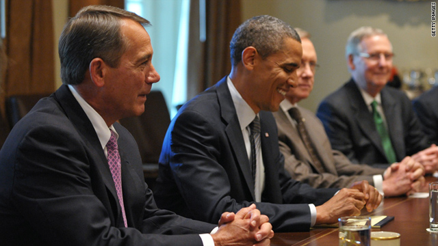 President Obama and congressional leaders held several debt negotiation meetings at the White House.