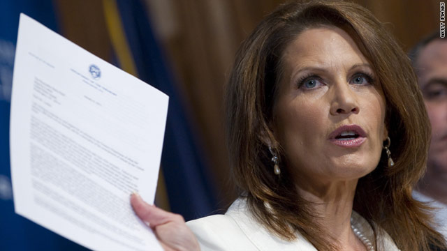 Michele Bachmann was to appear in Iowa on Monday, but she's flying back to Washington to be ready to vote against the bill.