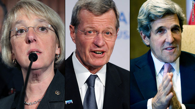 "Sen. Patty Murray, Sen. Max Baucus and Sen. John Kerry will serve on the congressional ""super committee."""
