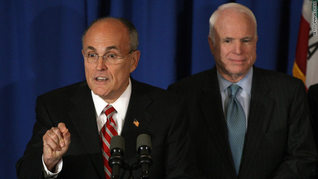 If early polls in 2008 predicted the winner, Rudy Giuliani, left, would have been the GOP nominee instead of John McCain.