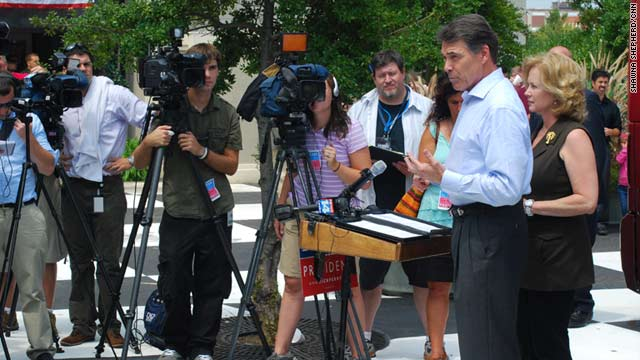 Texas Gov. Rick Perry speaks in Rock Hill, South Carolina, on Saturday.