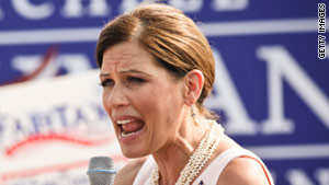 Michele Bachmann joked at a campaign event that Hurricane Irene was a sign from God.
