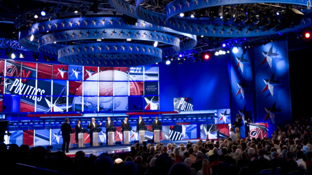 Republican presidential candidates will face off in debates five times over the next two months.