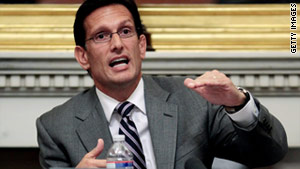 House Majority Leader Eric Cantor says discussions with voters made it clear they are anxious about the economy.