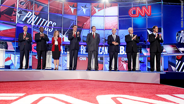 Live blog of CNN&#039;s first-ever Tea Party Republican Debate