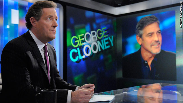 Piers Morgan's guests on Friday are George Clooney and his father, Nick Clooney.