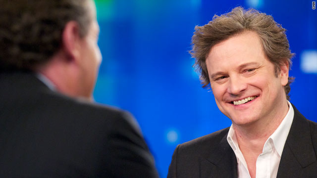 "Colin Firth is Piers Morgan's guest tonight along with his ""The King's Speech"" co-stars Geoffrey Rush and Helena Bonham Carter."