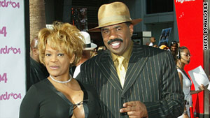 Steve and Mary Harvey, pictured at the 2004 BET Awards, divorced in 2005.
