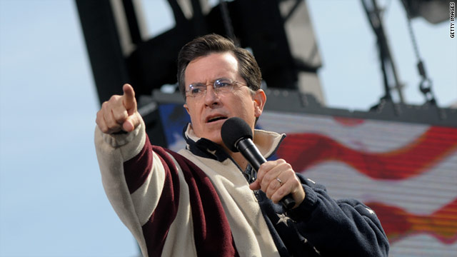 Stephen Colbert, pictured here in Washington in October 2010, is planning to sail from Charleston to Bermuda in May.
