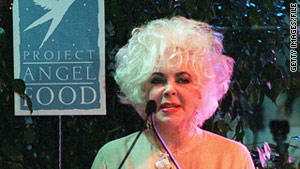 Elizabeth Taylor received the Angel Award from Project Angel Food for her work with AIDS patients in 1999.