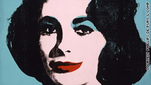 An Andy Warhol painting of Elizabeth Taylor is expected to fetch $20 million to $30 million.