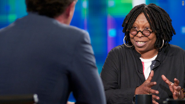 Actress, comedianne and talk-show host Whoopi Goldberg is Piers Morgan's guest on Wednesday night at 9 ET.