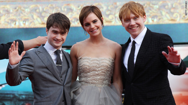 "Daniel Radcliffe, Emma Watson and Rupert Grint attend the premiere of ""Harry Potter and the Deathly Hallows: Part 2"" in London."